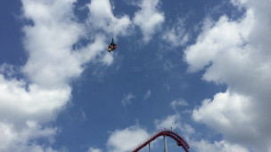 Bungee jumping at Carowinds.