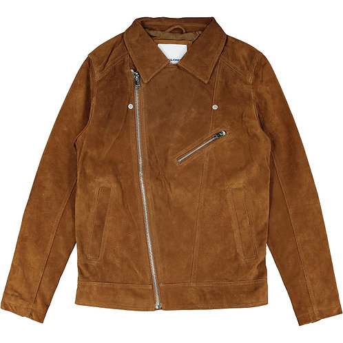 JACK & JONES Premium Leather Biker Jacket (RARE & COLLECTABLE)