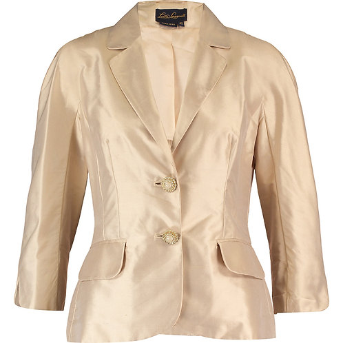 LUISA SPAGNOLI Camel/Fawn Silk Jacket (RARE & COLLECTABLE)