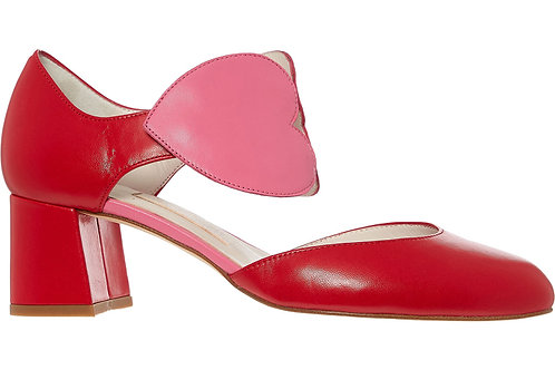 LULU GUINNESS In Love Anabel Heart Heeled Sandals(RARE & COLLECTABLE)