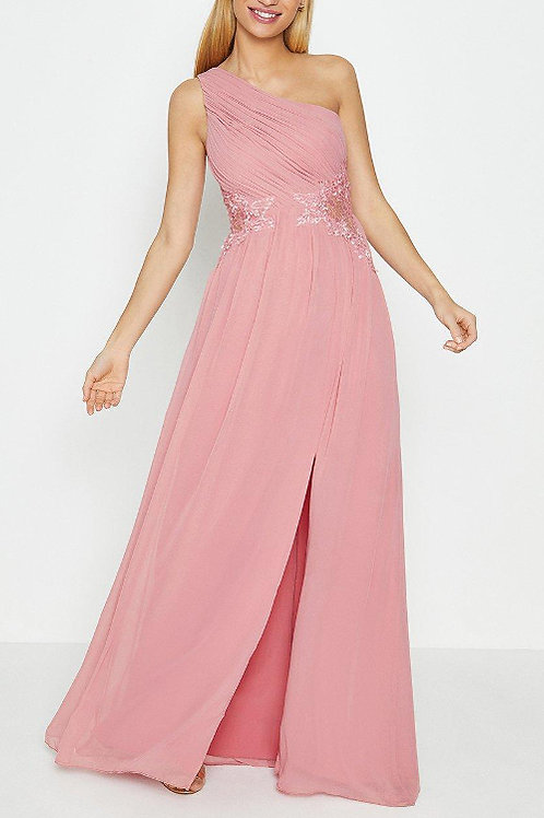 COAST One Shoulder Lace Applique Maxi Dress(RARE & COLLECTABLE)