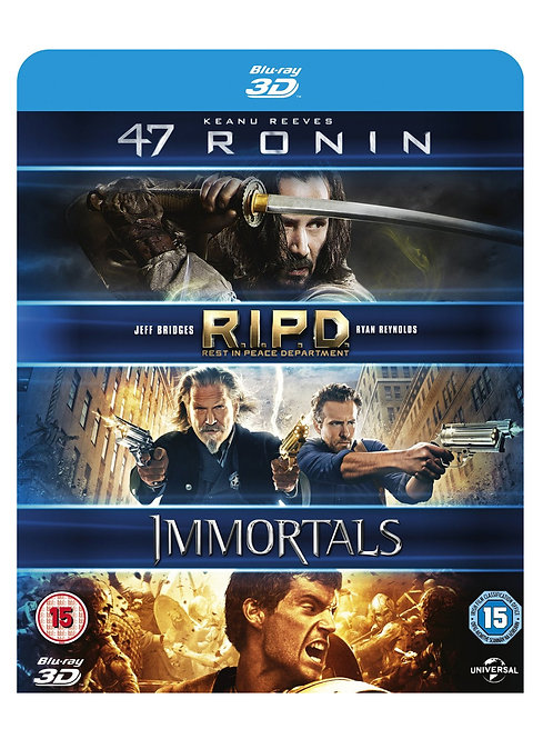 47 Ronin / RIPD / Immortals [Blu-ray] [2011] [Region Free]