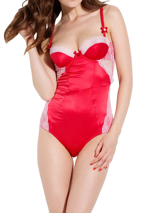 L'AGENT By AGENT PROVOCATEUR Marisela Stretch Satin Body (RARE & COLLECTABLE)