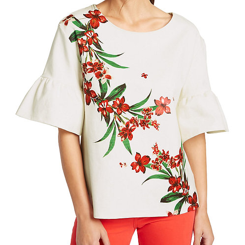 MARKS & SPENCER COLLECTION Cotton Rich Flared Sleeve T-Shirt T41/4981F