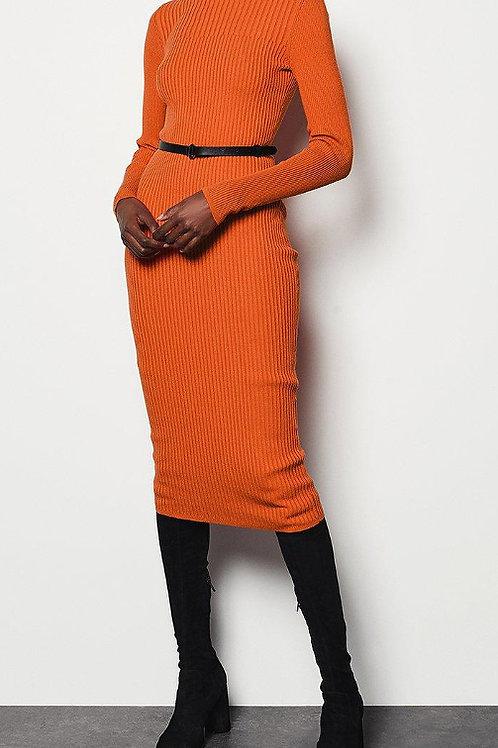 KAREN MILLEN Skinny Rib Knit Dress (RARE & COLLECTABLE)