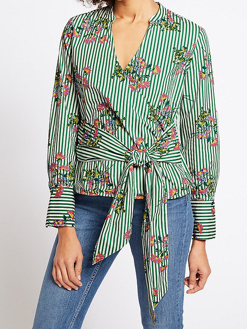 MARKS & SPENCER COLLECTION Pure Cotton Floral Print Long Sleeve Blouse T43/0955