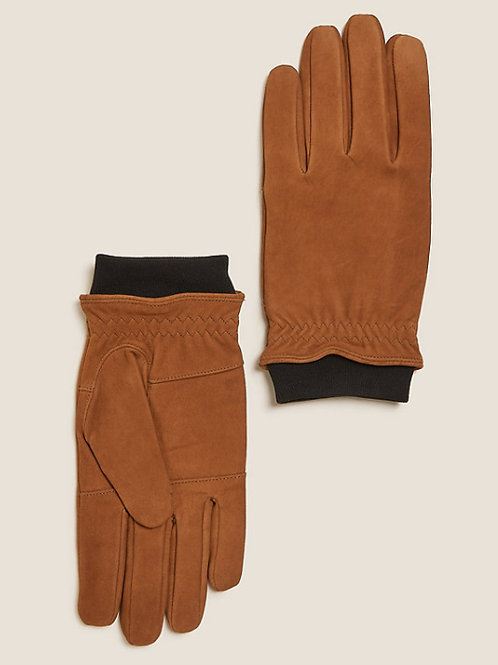 M&S Collection Nubuck Leather Gloves T09/2302
