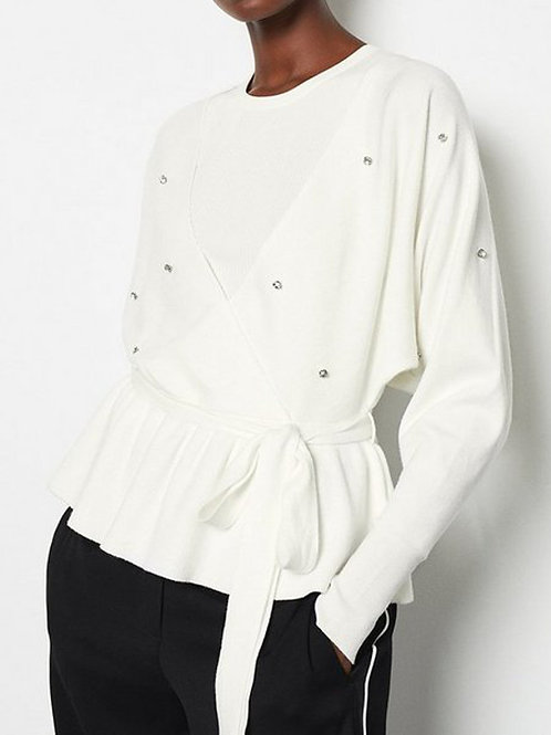 KAREN MILLEN Diamante Detail Knitted Jumper (RARE & COLLECTABLE)