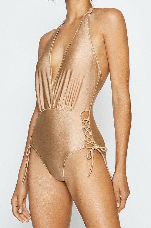 COAST Lace Up Bottom Swimsuit(RARE & COLLECTABLE)