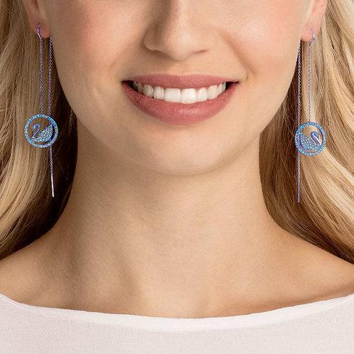 SWAROVSKI Pop Swan Pierced Earrings (RARE & COLLECTABLE)