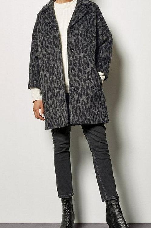KAREN MILLEN Leopard Wool Blend Coat (RARE & COLLECTABLE)