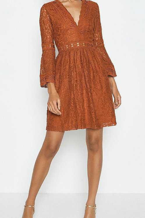 COAST 3/4 Lace Sleeve Short Swing Dress (RARE & COLLECTABLE)