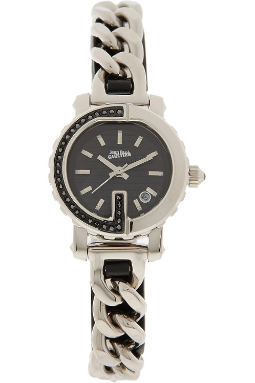JEAN PAUL GAULTIER Ladies Silver Tone Chain Analogue Watch