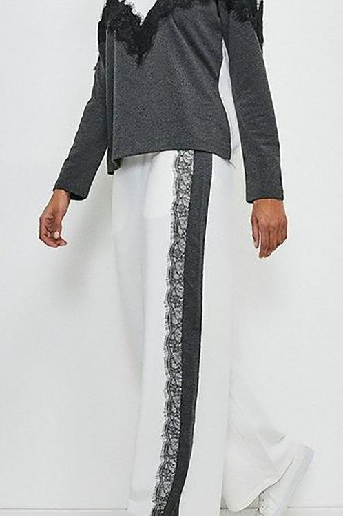 KAREN MILLEN Lounge Lace Trim Wide Leg Pant(RARE & COLLECTABLE)