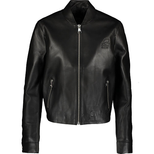 KARL LAGERFELD Leather Bomber Jacket 87KW1900 (RARE & COLLECTABLE)