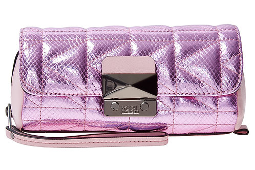 KARL LAGERFELD Quilted Leather Clutch Bag  (RARE & COLLECTABLE)