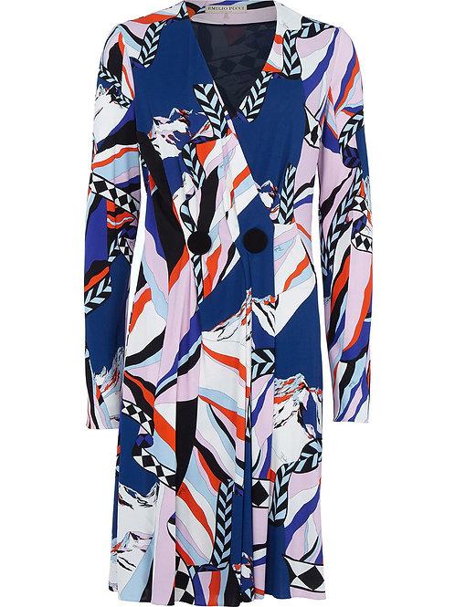 EMILIO PUCCI Montagne Print Wrap Dress (RARE & COLLECTABLE)