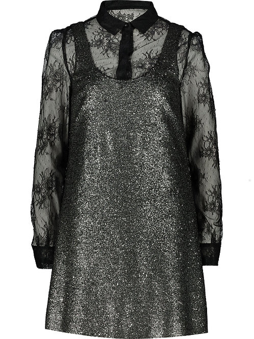 BOUTIQUE MOSCHINO Sequin & Lace Embellished Dress(RARE & COLLECTABLE)
