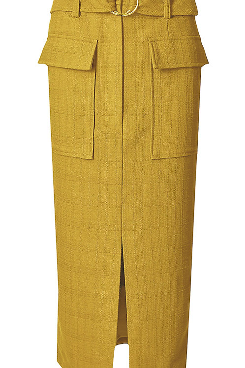 MARKS & SPENCER COLLECTION Belted Patch Pocket Straight Midi Skirt T59/4020