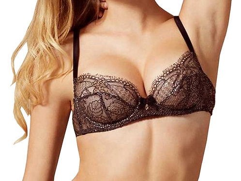 AGENT PROVOCATEUR SOIREE Sianna Snakeskin-Effect Coating Bra (RARE & COLLECTABLE