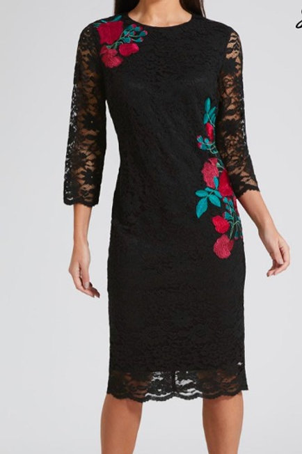 MATALAN By SOON Embroidered Lace Midi Dress