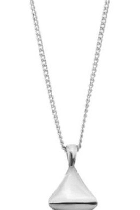 DINNY HALL Sterling Silver Almaz Diamond Pendant on Chain (RARE & COLLECTABLE)