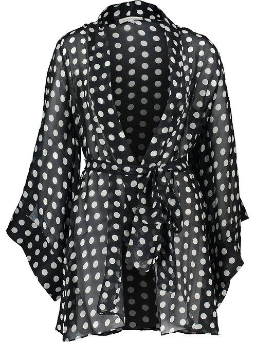 ALEXANDRA MIRO Polka Dot Silk Kimono(RARE & COLLECTABLE)