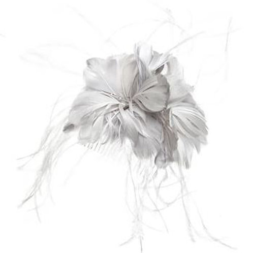 MONSOON ACCESSORIZE Ostrich Feather Flower On Comb