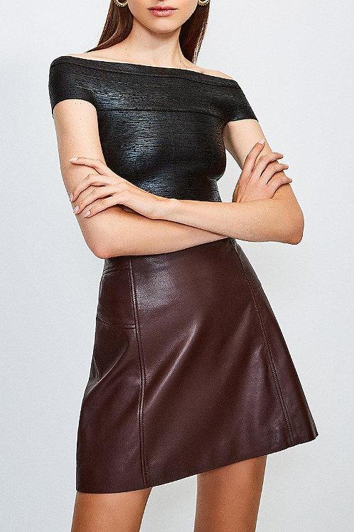KAREN MILLEN Metallic Foil Bardot Bandage Knit Top(RARE & COLLECTABLE)