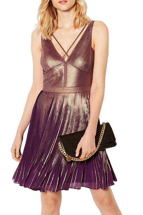 KAREN MILLEN Metallic Printed Dress DB234 (RARE & COLLECTABLE)