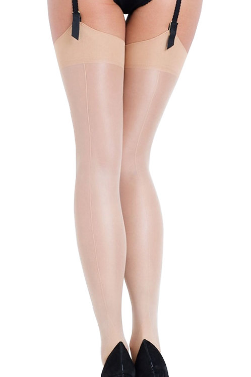 L'AGENT By AGENT PROVOCATEUR Seam & Heel Stocking (RARE & COLLECTABLE)