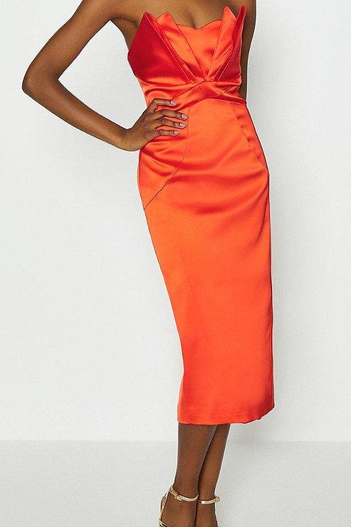 COAST Seam Bandeau Midi Dress(RARE & COLLECTABLE)