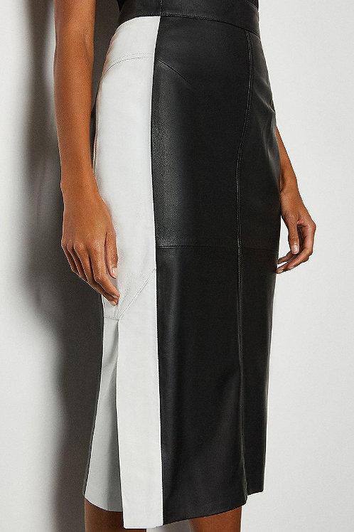 KAREN MILLEN Leather Pencil Skirt(RARE & COLLECTABLE)