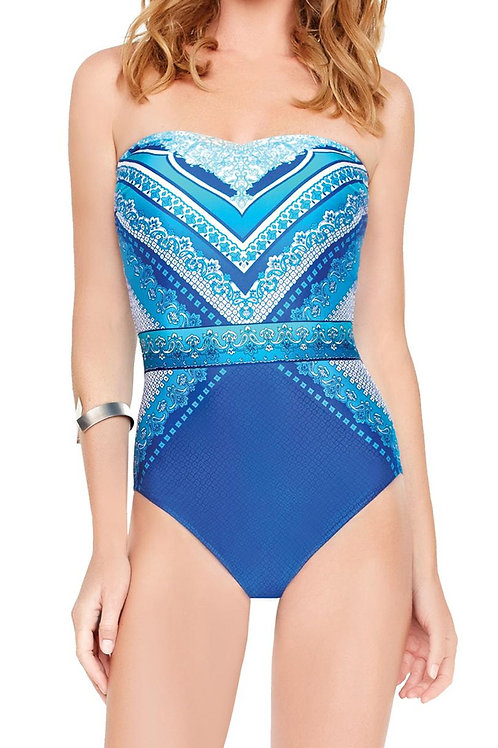 GOTTEX Jasmine Bandeau One Piece Swimsuit 16BJ-072R (RARE & COLLECTABLE)
