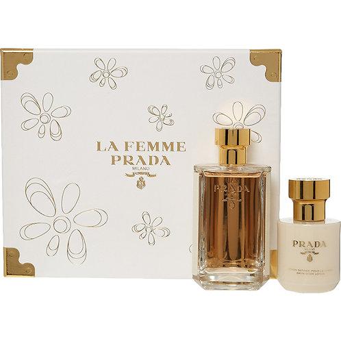 PRADA La Femme Eau De Parfum & Body Lotion Gift Set