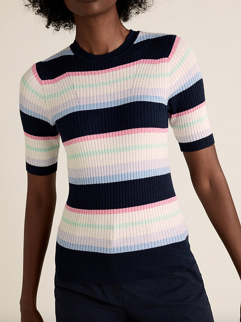 M&S COLLECTION Striped Crew Neck Jumper T38/5531Q