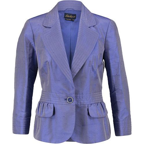 LUISA SPAGNOLI Purple Silk Crepe Jacket (RARE & COLLECTABLE)