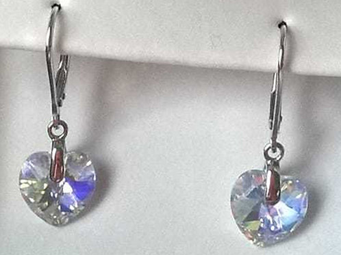 AVA RO Swarovski® Hearts Sterling Silver Earrings (RARE & COLLECTABLE)