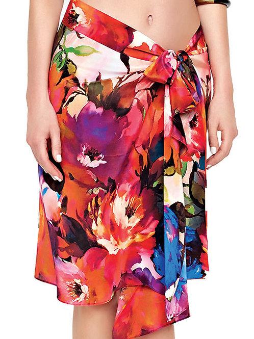 GOTTEX Contour Garden Of Eden Silk Beach Skirt 16GE-405R (RARE & COLLECTABLE)