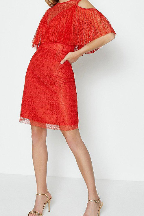 COAST Pleated Lace Bodice Short Dress(RARE & COLLECTABLE)