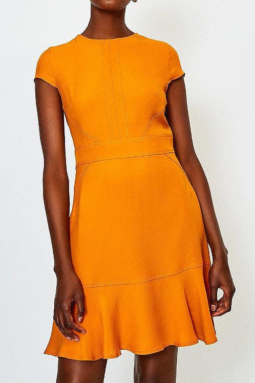 KAREN MILLEN Topstitch Flippy Hem Dress (RARE & COLLECTABLE)