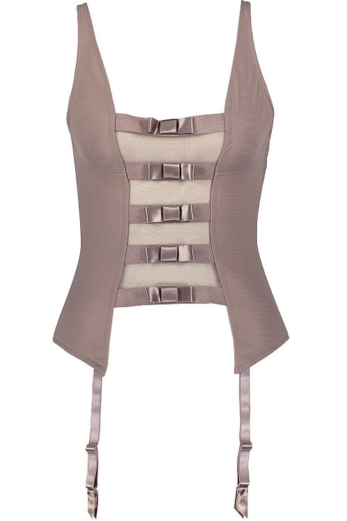 CHANTAL THOMASS Audacieuse Bow Mesh Bustier (RARE & COLLECTABLE)