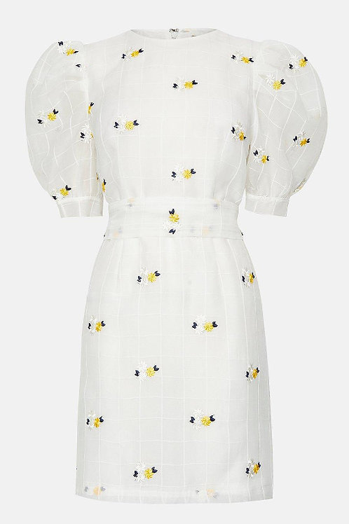 COAST Check and Floral Organza Mini Dress(RARE & COLLECTABLE)