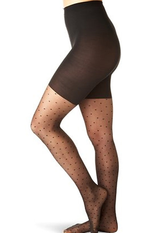 SPANX Sheer Fashion Swiss Dot Patterned Sheers Shaping Tights 397