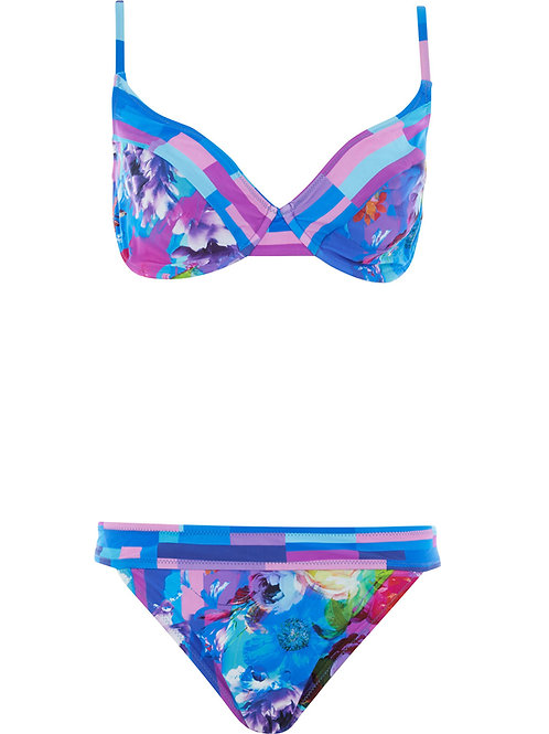 GOTTEX Collection In Bloom Floral Print Two Piece Bikini Set (RARE & COLL)