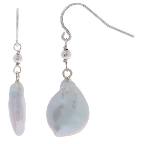 Kyoto Cultured Freshwater Coin Pearl Earrings (RARE & COLLECTABLE)