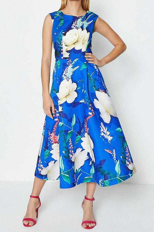 COAST Stretch Bodice Printed Twill Full Midi Dress(RARE & COLLECTABLE)