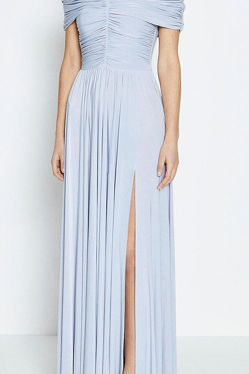 COAST Jersey Ruched Bardot Maxi Dress (RARE & COLLECTABLE)