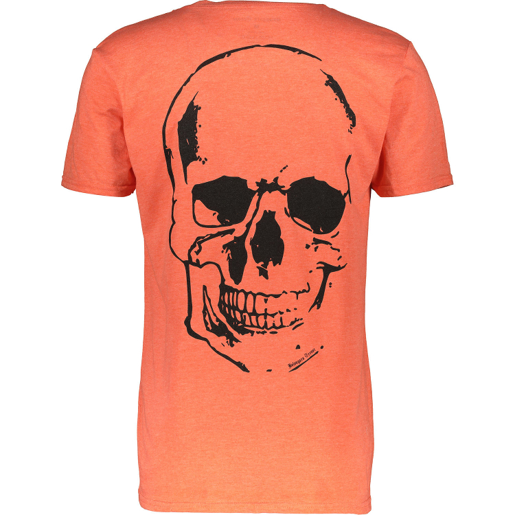 BOLONGARO TREVOR Orange Skull Print Long