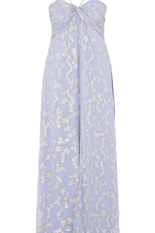 AIDAN MATTOX Floral Silk Blend Dress (RARE & COLLECTABLE)